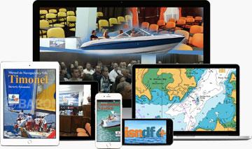 Material multimedia para cursos náuticos